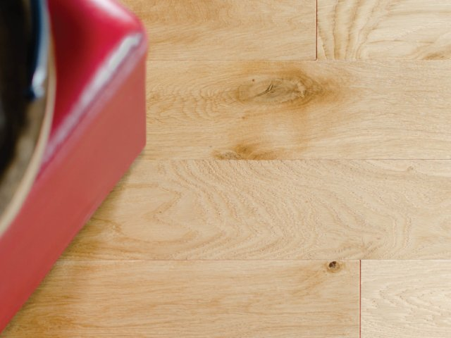 natural-hardwood-flooring-with-red-stool