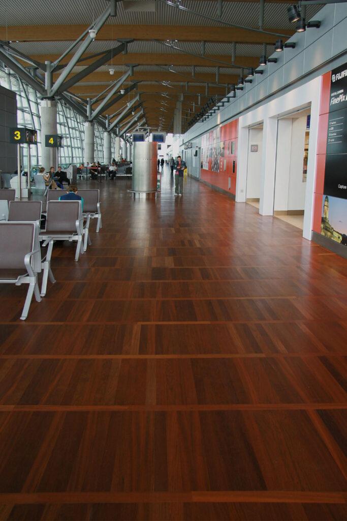 copenhagen airport wood flooring