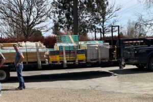A Huge Truckload of Flooring Goes To Tiny Homes
